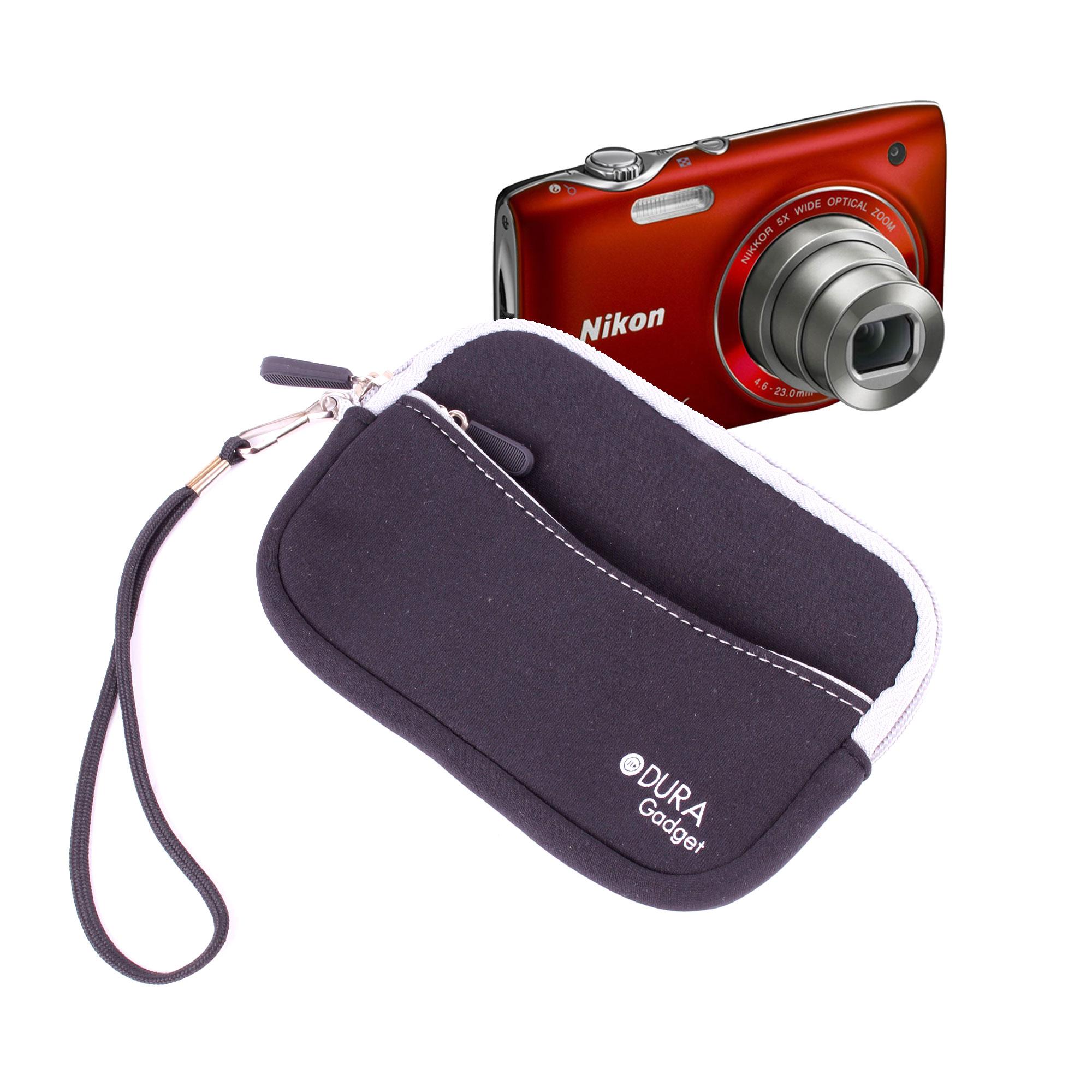 Housse noire pour appareil photo compact nikon coolpix - Housse appareil photo compact ...