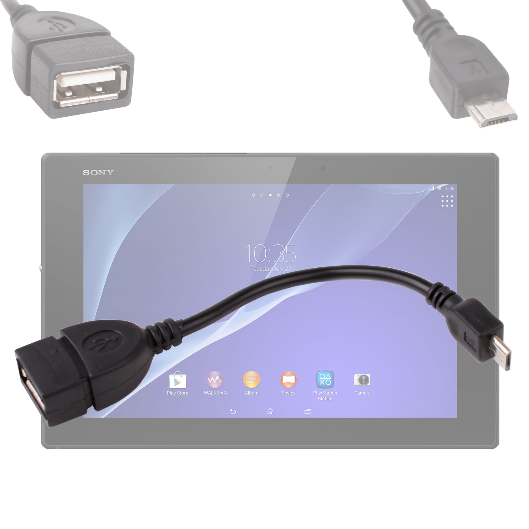 adaptateur usb 2 0 micro usb pour tablette sony xperia z2 tablet ebay. Black Bedroom Furniture Sets. Home Design Ideas