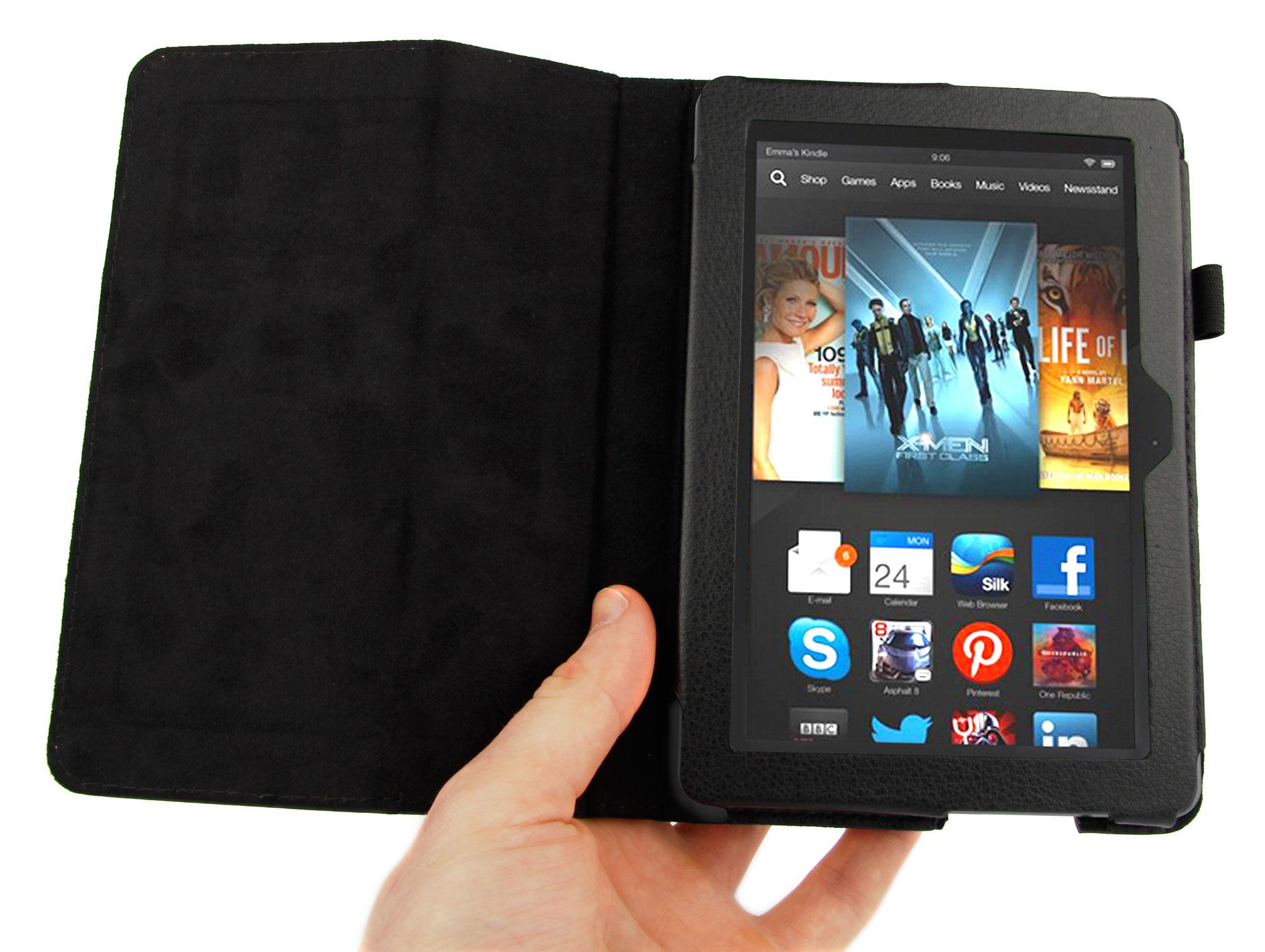 etui noir pour tablette tactile amazon kindle fire hdx 7. Black Bedroom Furniture Sets. Home Design Ideas