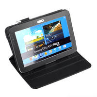View Item Black Leather Rotating Case w/ S-Pen Holder Fits Samsung Galaxy Note 10.1 N8000