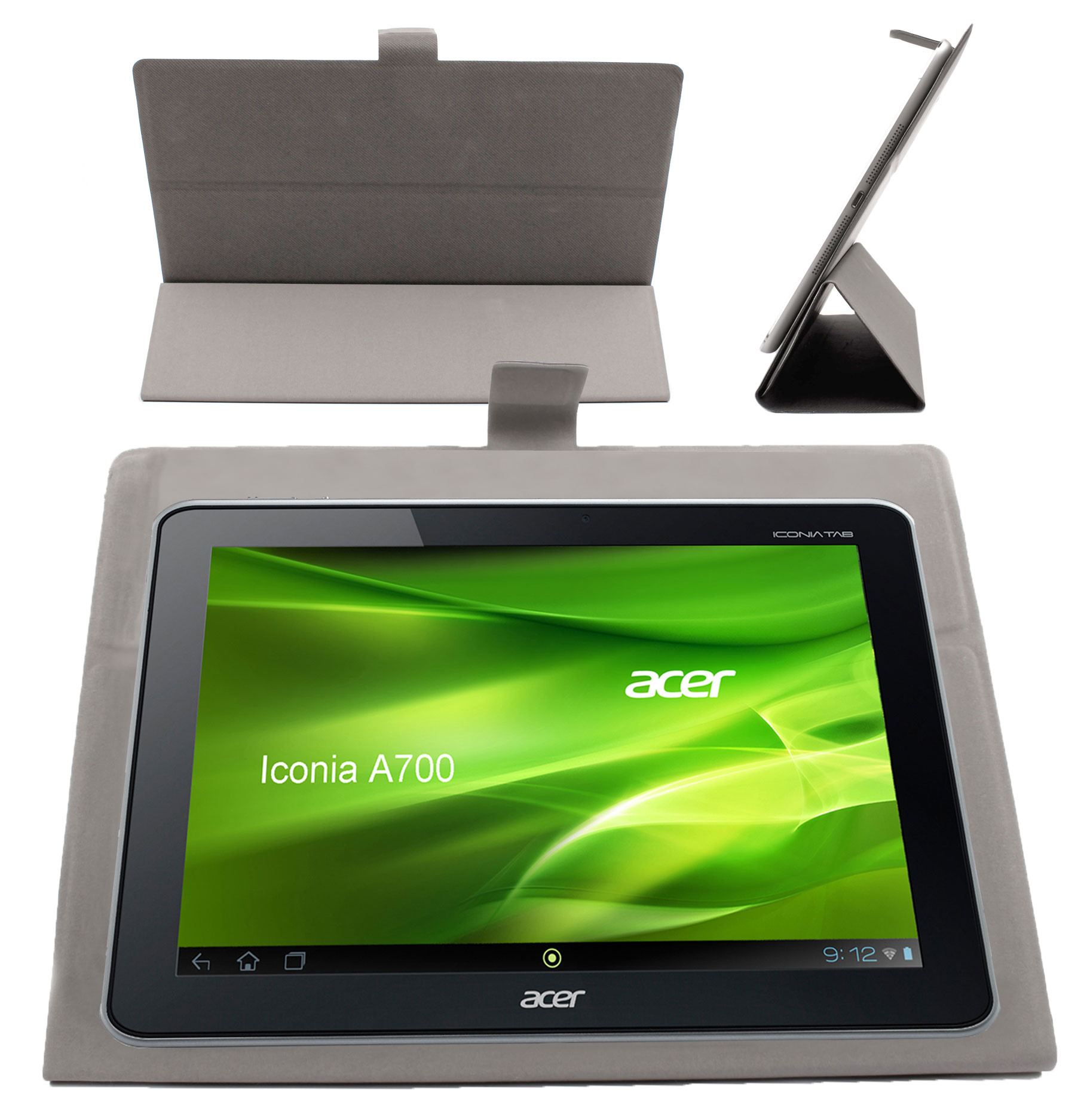 tui gris pour tablette acer iconia tab a3 a10 a510 a700 a210 a211 w700 w51 ebay. Black Bedroom Furniture Sets. Home Design Ideas