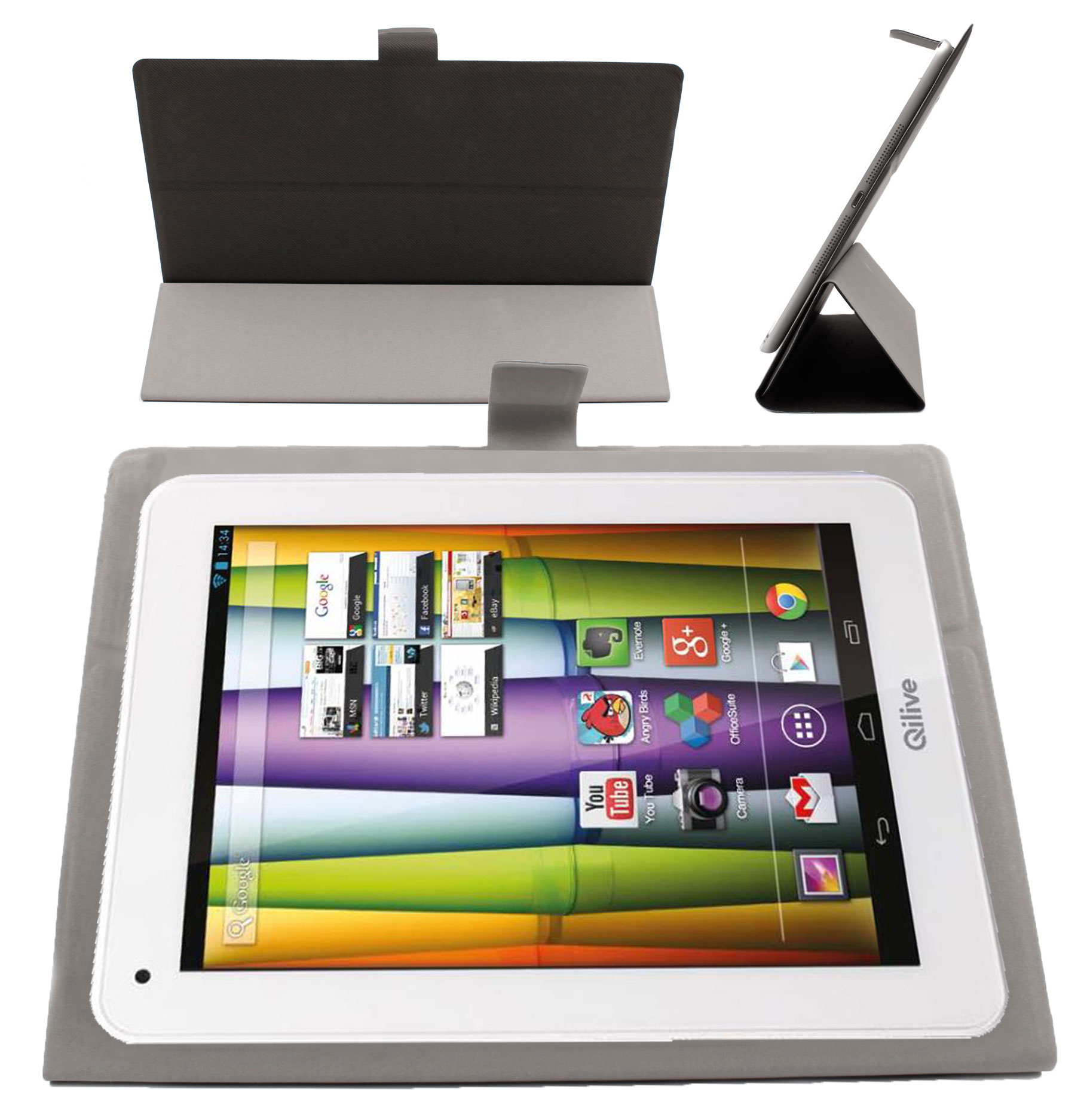 etui fin gris pour tablettes tactiles auchan qilive 9 7 b600121 9 7r b600122 ebay. Black Bedroom Furniture Sets. Home Design Ideas
