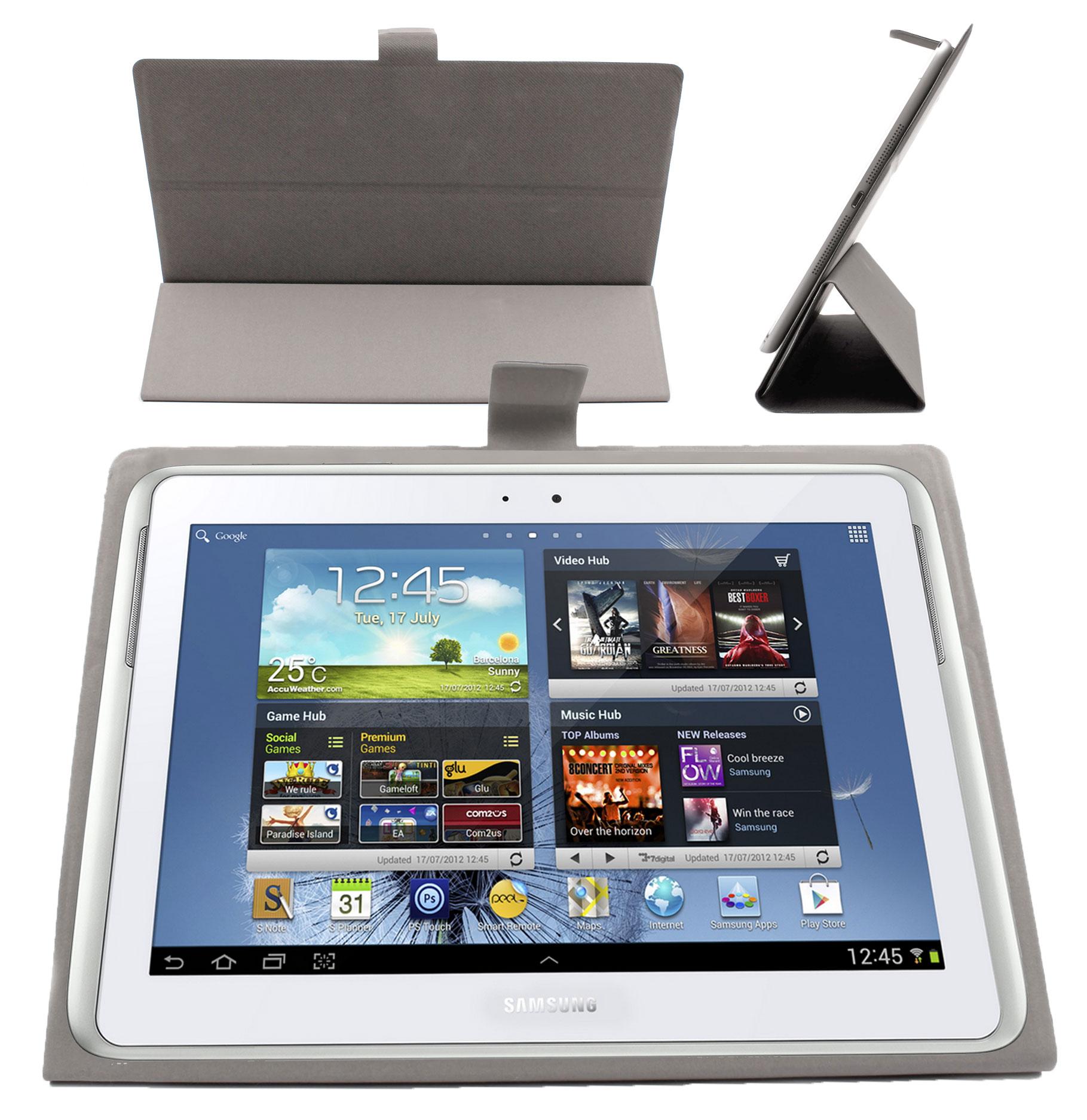 Etui Gris Pour Samsung Galaxy Tab Tab 2 Tab 3 Note 1 2