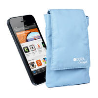 View Item Cushioned Pouch For Apple iPhone 5 w/ Belt Loop &amp; Velcro Fastening In Light Blue