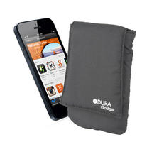 View Item Cushioned Pouch For Apple iPhone 5 w/ Belt Loop &amp; Velcro Fastening In Black