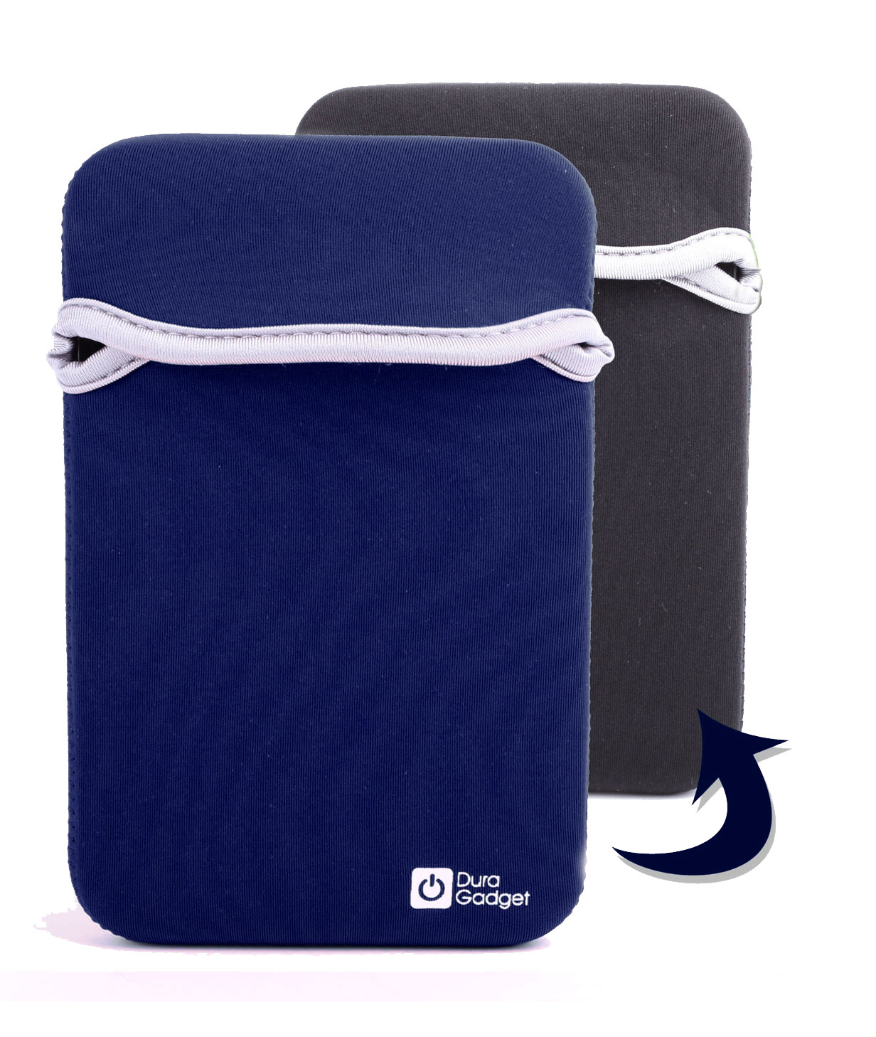 Tui housse noir bleu en n opr ne pour tablette ipad mini for Housse neoprene ipad