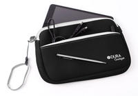 View Item Water Resistant Black Pouch For New Apple iPad Mini Neoprene w/ Dual Zip