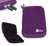 View Item Purple EVA Storage Case For Barnes & Noble Nook Simple Touch Glowlight w/ Pocket