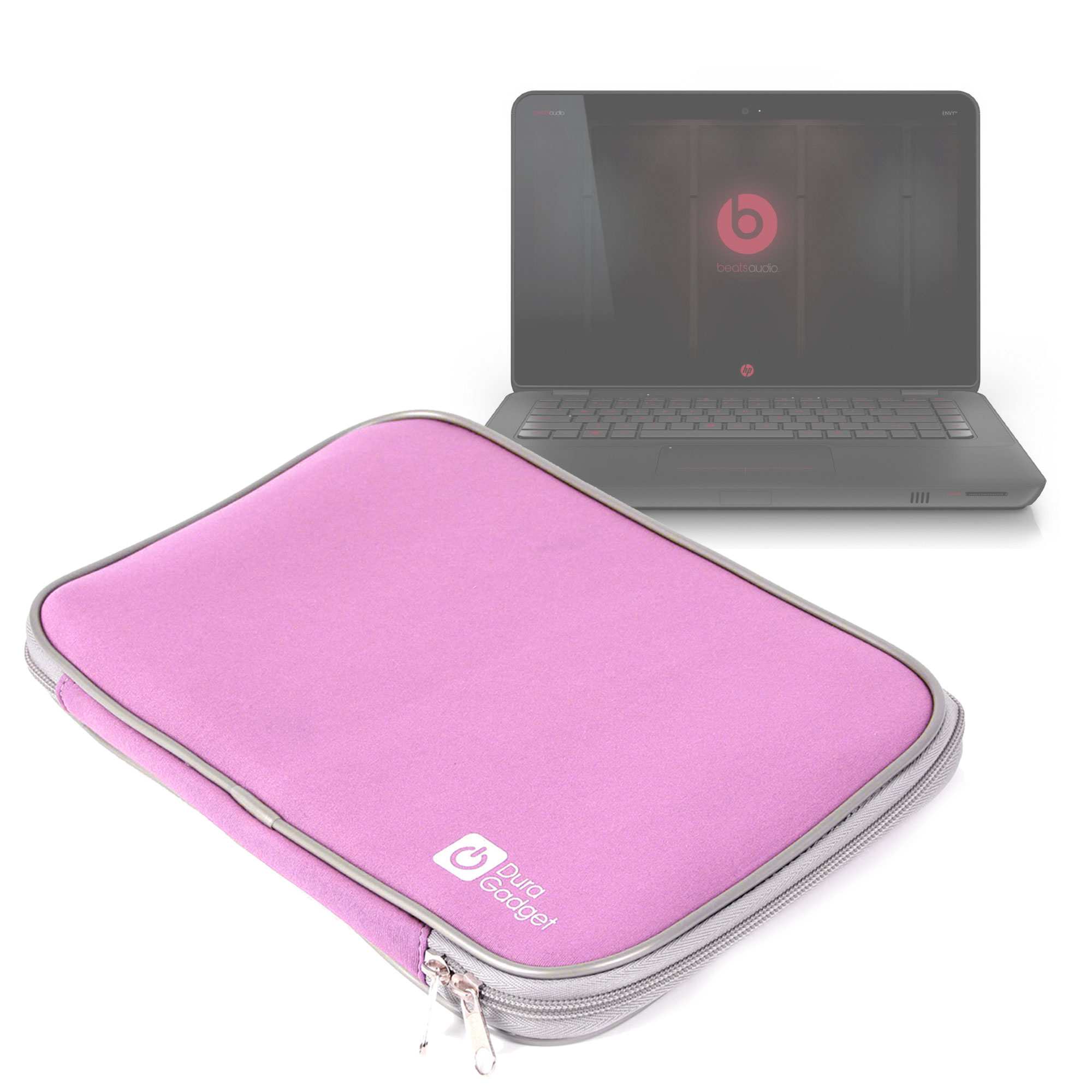 Squishy Laptop Cases : Pink Soft Neoprene Laptop Case/Pouch/Sleeve Fits HP Envy 14-1195ea Beats Edition
