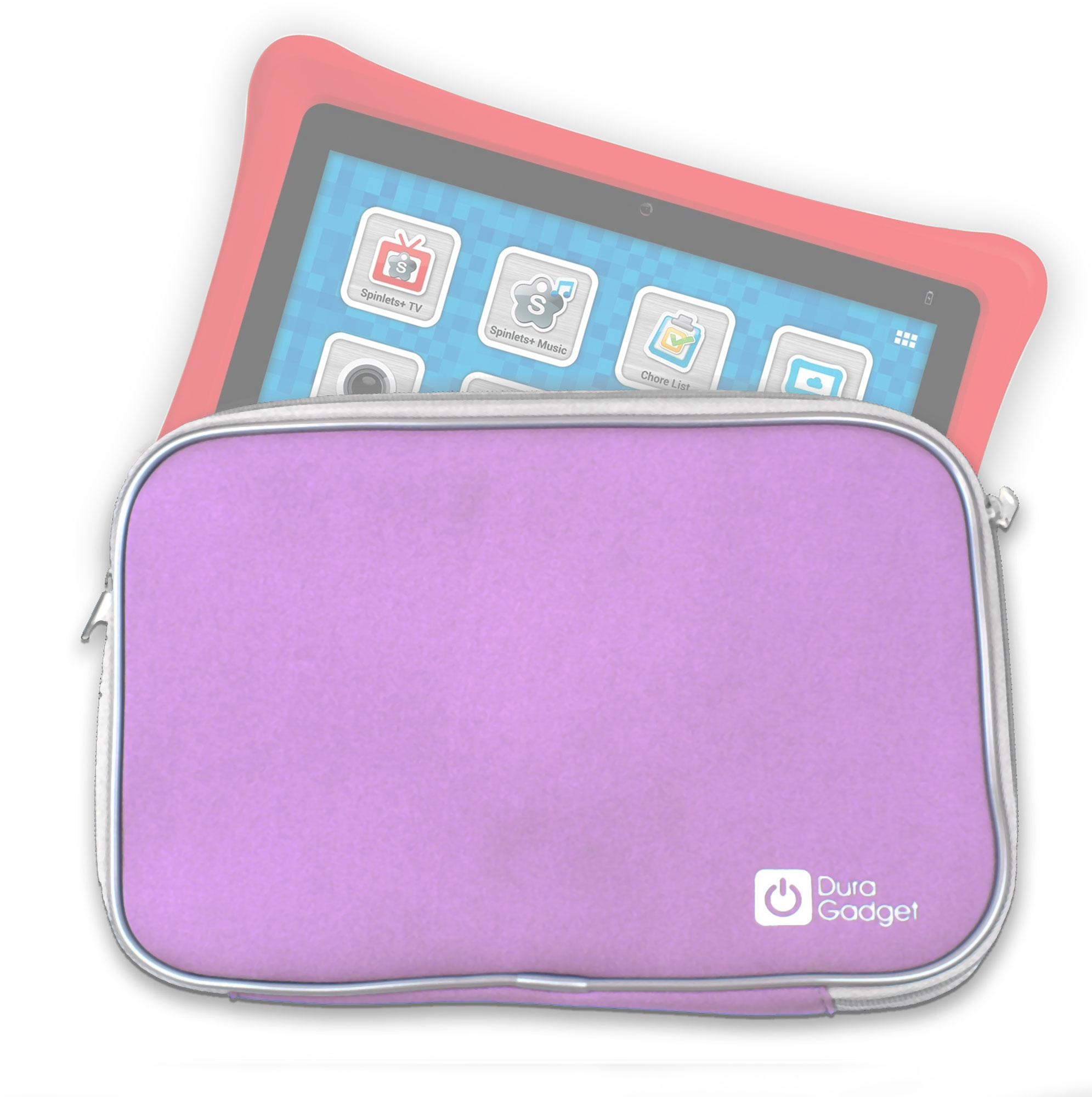 Stylish & Soft Pink Sleeve For Nabi Tablet In Water Resistant Neoprene