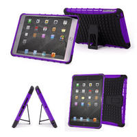 View Item Ultra Protective Stand Case For Apple iPad Mini Custom Styled In Purple & Black