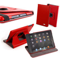 View Item 360� Rotating PU Leather Case For iPad Mini in Red