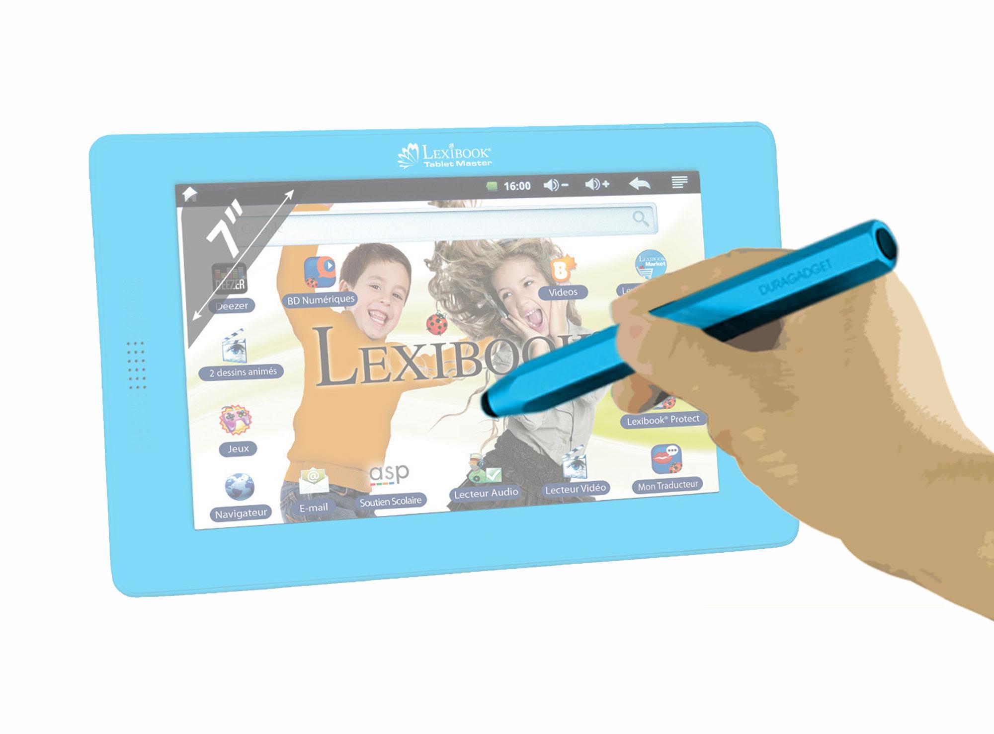 stylet bleu pour cran tactile tablette enfant lexibook tablet master mfc155fr ebay. Black Bedroom Furniture Sets. Home Design Ideas