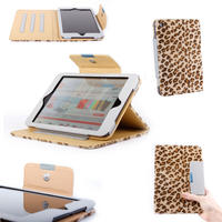 View Item Apple iPad Mini Custom Fluffy Leopard Print Case w/ Safe Lock & Adjustable Stand