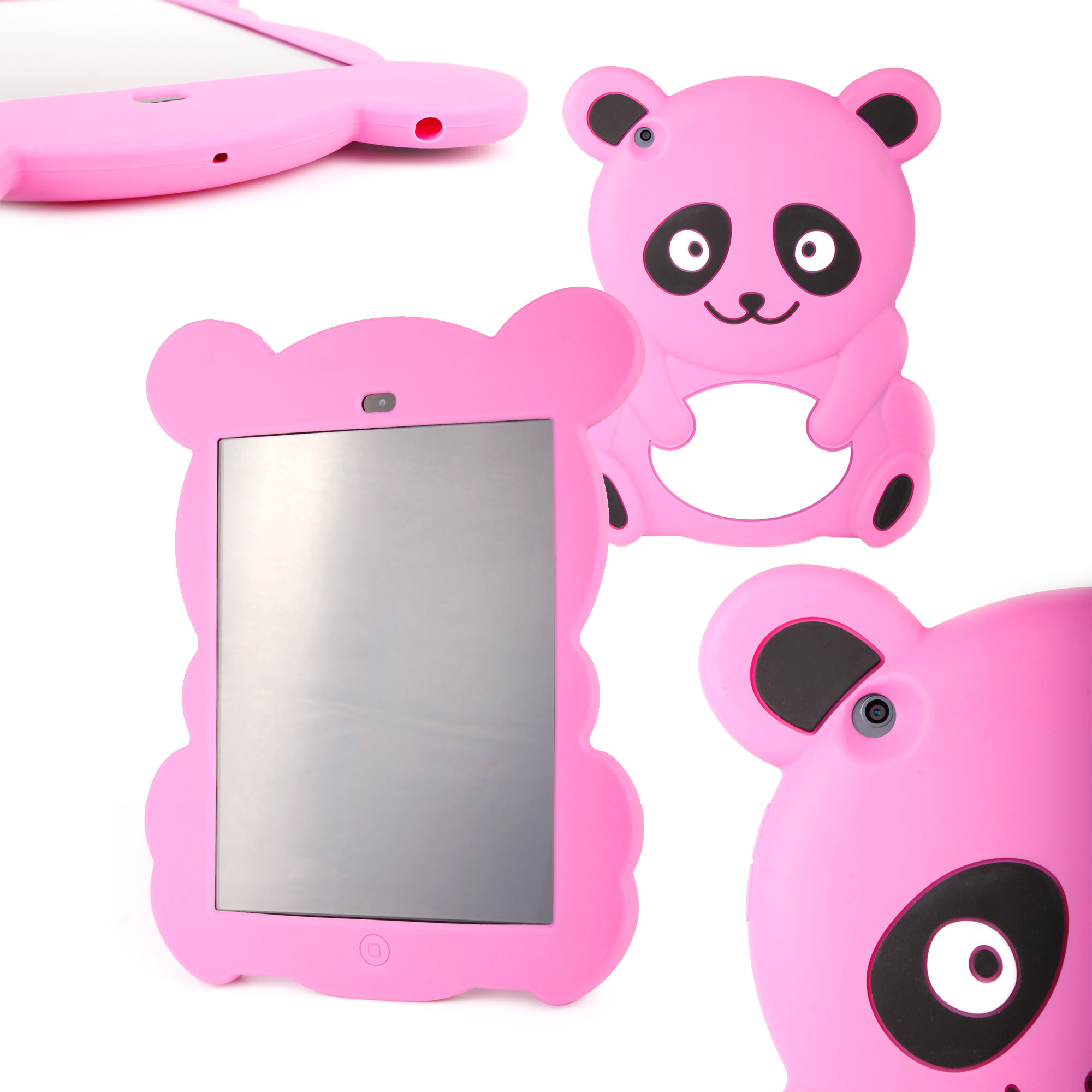 etui coque arri re panda rose pour la tablette apple ipad. Black Bedroom Furniture Sets. Home Design Ideas