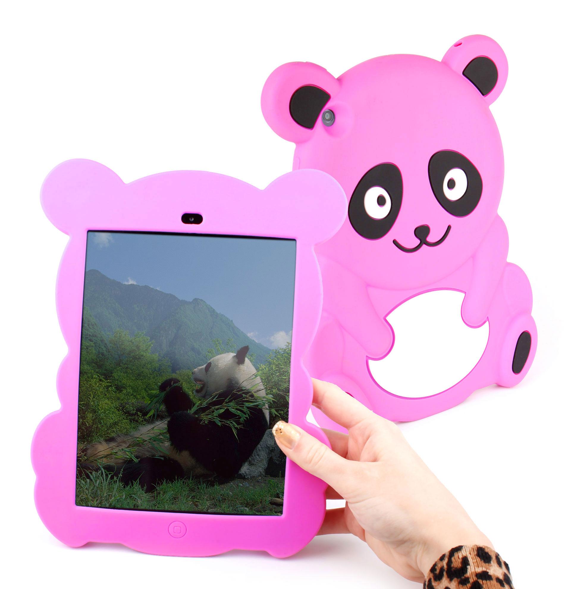etui coque arri re panda rose pour la tablette apple ipad. Black Bedroom Furniture Sets. Home Design Ideas