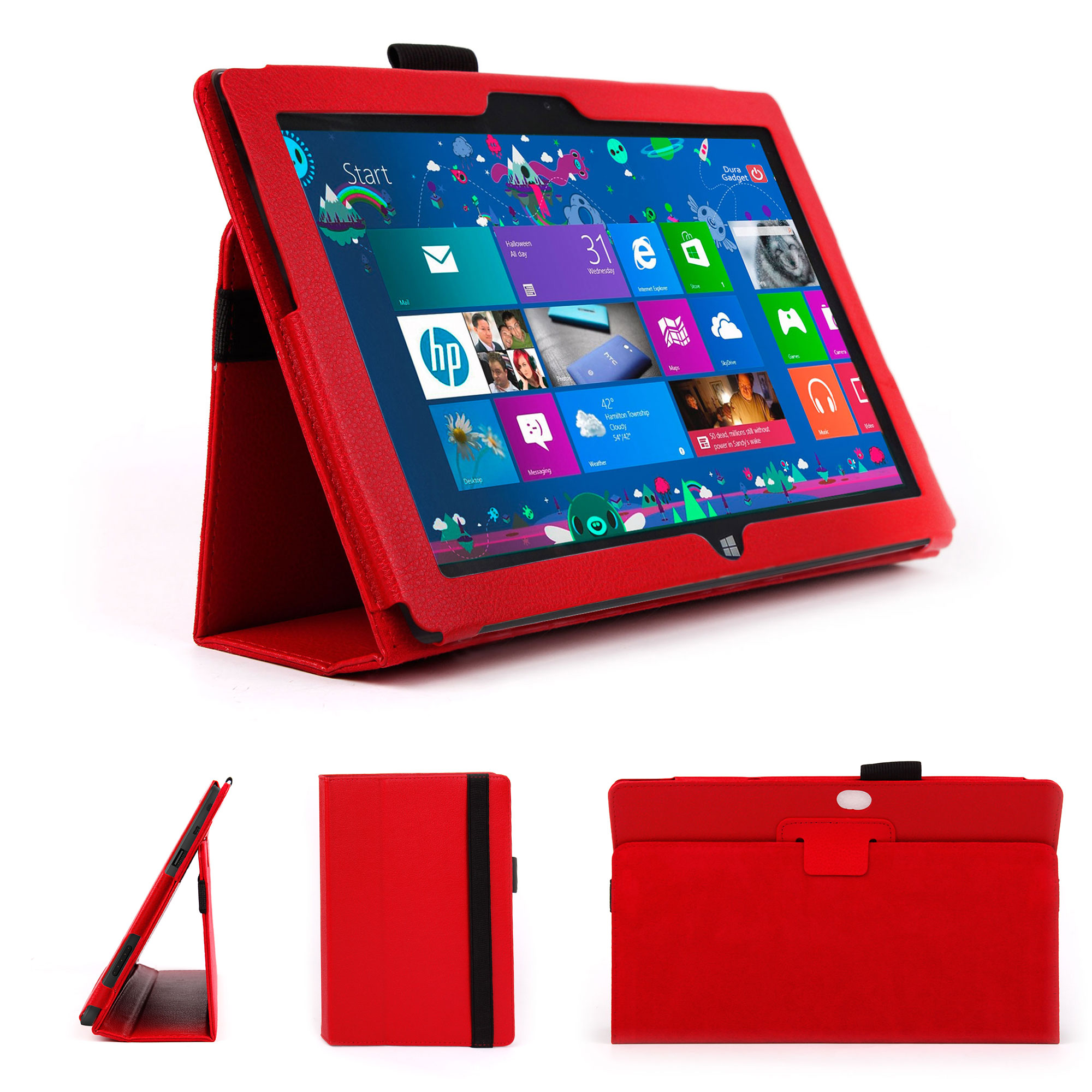 etui rouge pour tablette microsoft surface rt 10 6 ebay. Black Bedroom Furniture Sets. Home Design Ideas