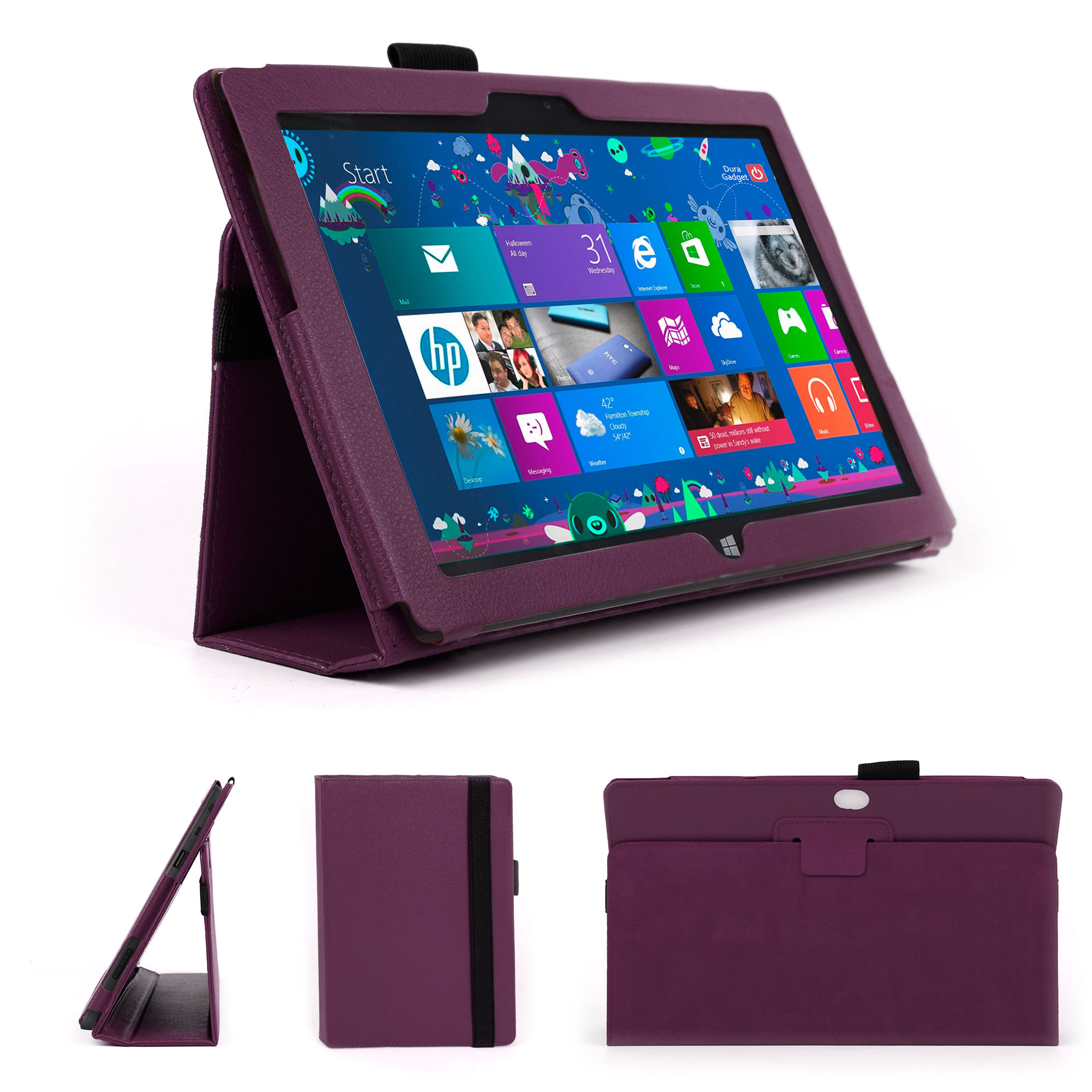 etui violet pour tablette microsoft surface rt 10 6 ebay. Black Bedroom Furniture Sets. Home Design Ideas