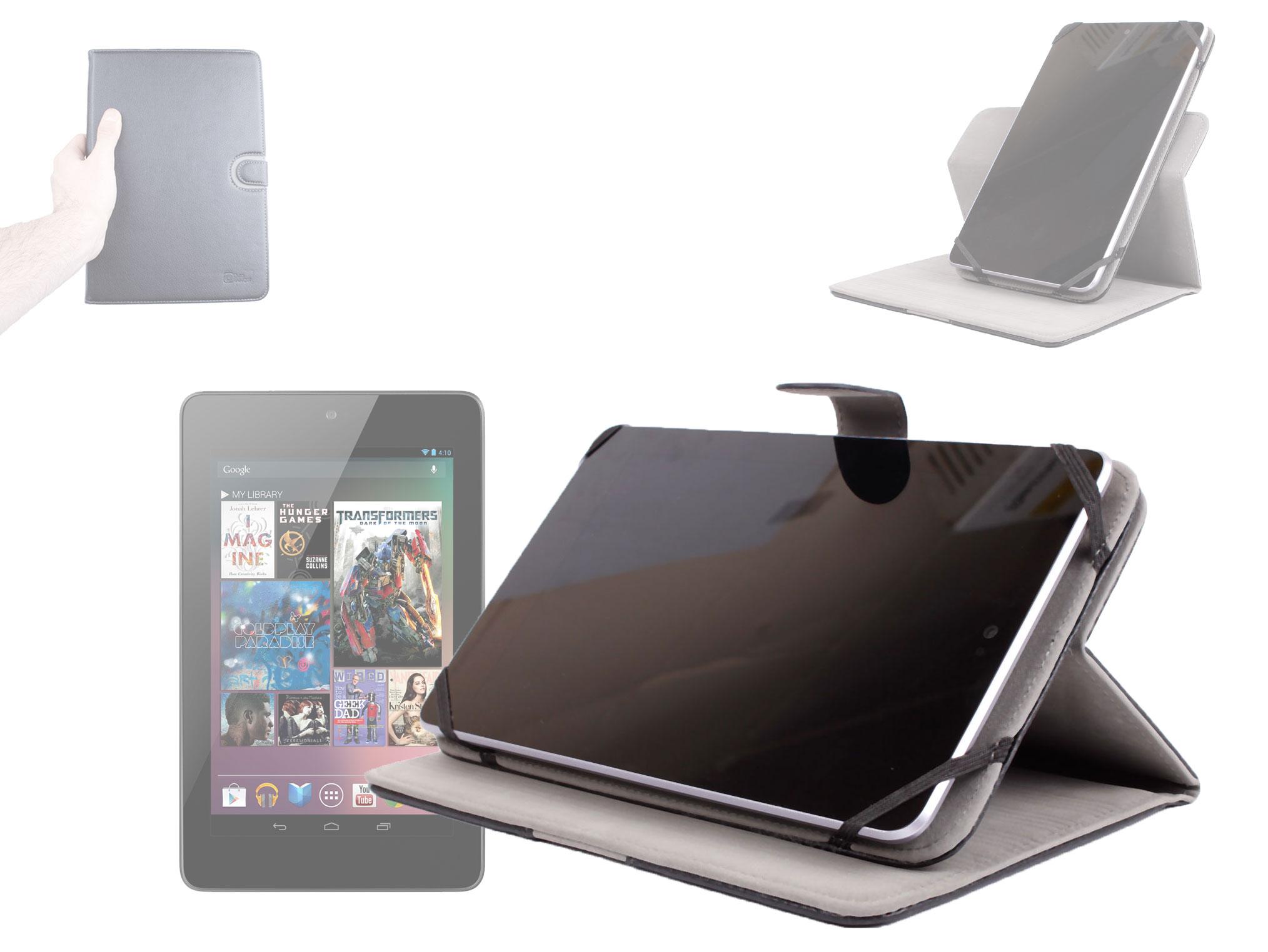 housse rotative en effet cuir pour nexus 7 asus tablette android 4 1 jellybean ebay