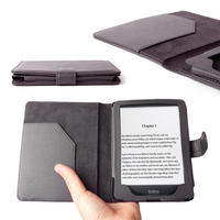 View Item DURAGADGET Custom Black Leather Case For Kobo Mini eReader With Magnetic Close