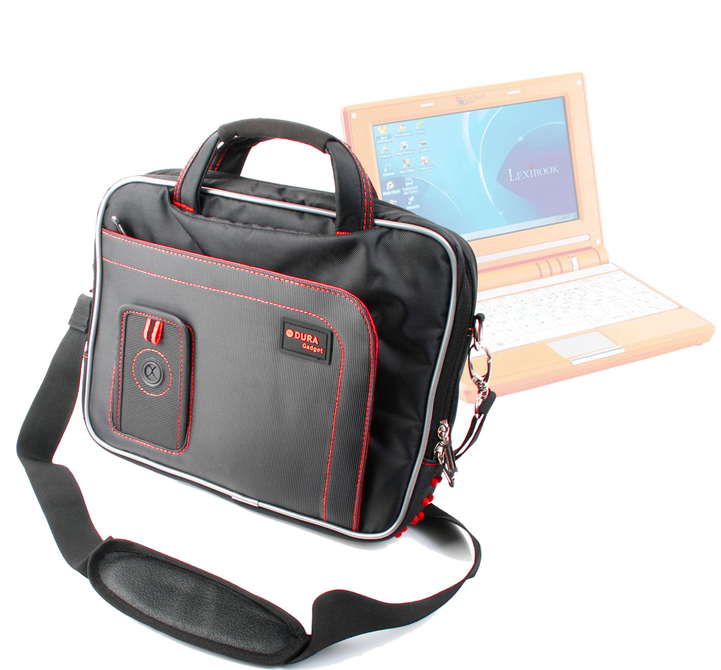 sacoche housse noir rouge pour ordinateur portable enfant. Black Bedroom Furniture Sets. Home Design Ideas