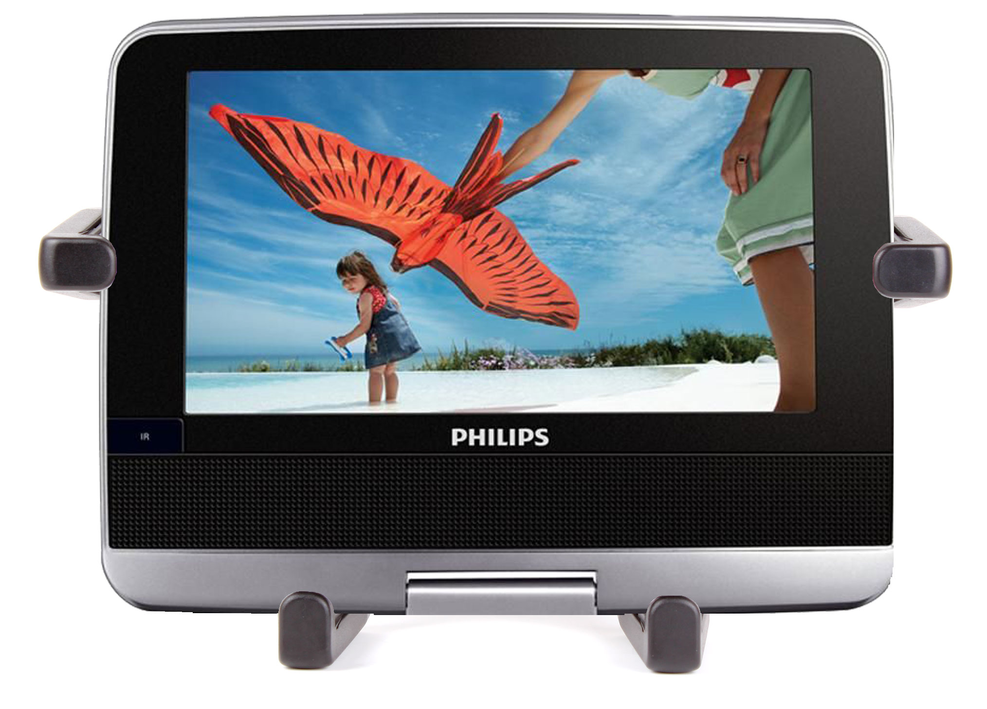 support appui t te voiture pour lecteur dvd philips pd7022 divx philips pet103 ebay. Black Bedroom Furniture Sets. Home Design Ideas