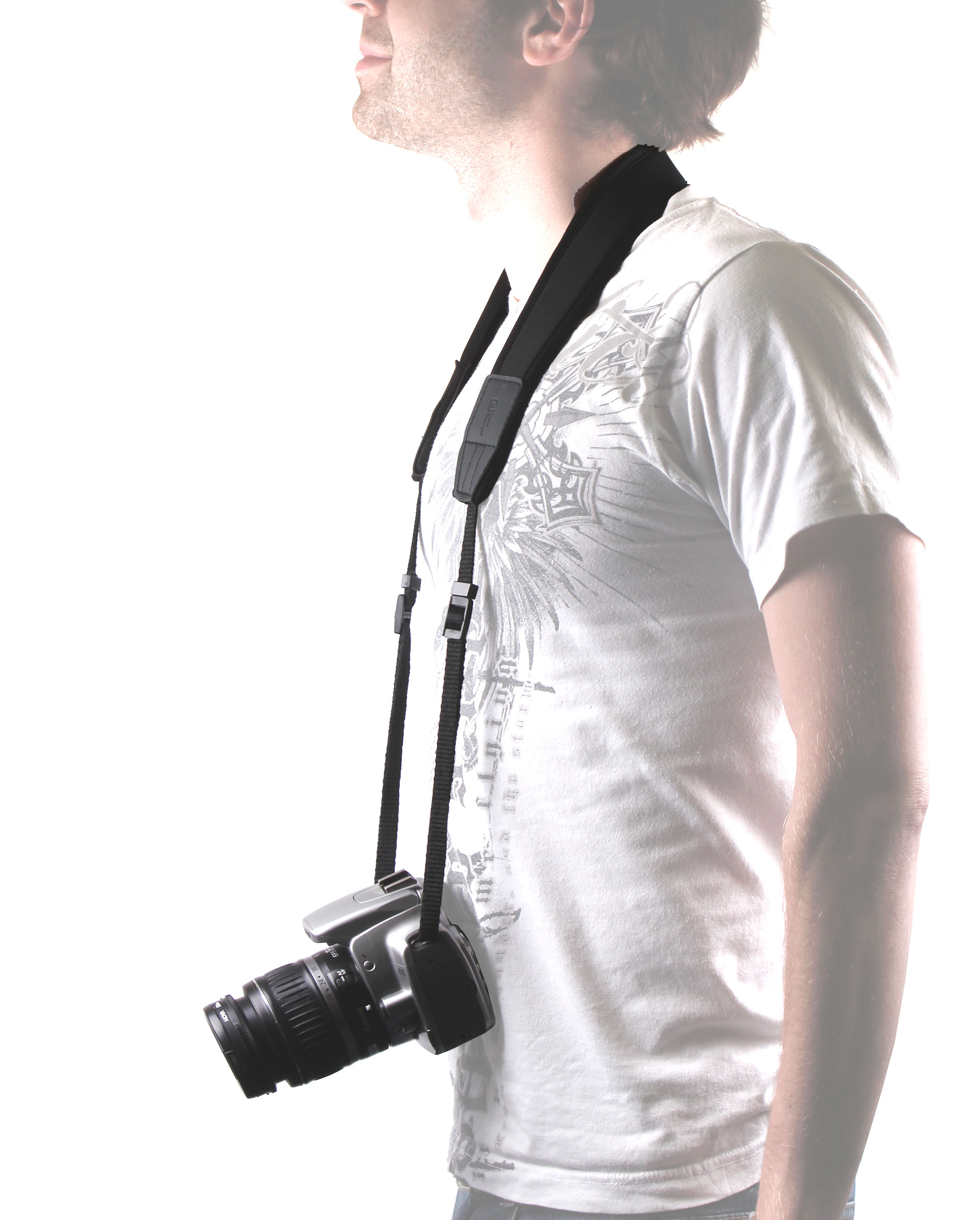 SLR Camera Strap For Panasonic Lumix DMC-GF5, GH1, GH2 With Padded Neck Cushion Enlarged Preview