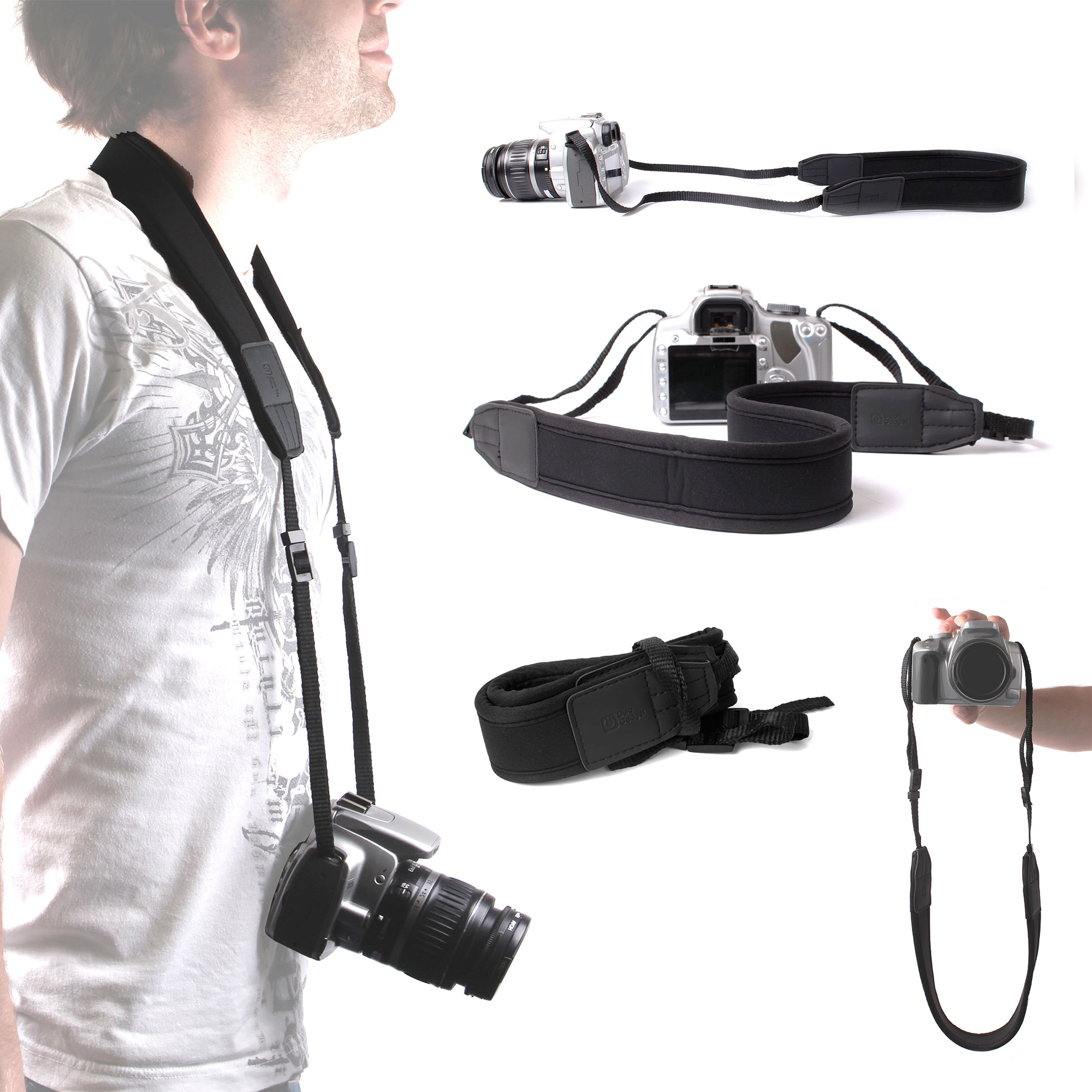 Adjustable Strap For Sony Alpha 57/SLT-A57 SLR Camera With Padded Neck Cushion Enlarged Preview