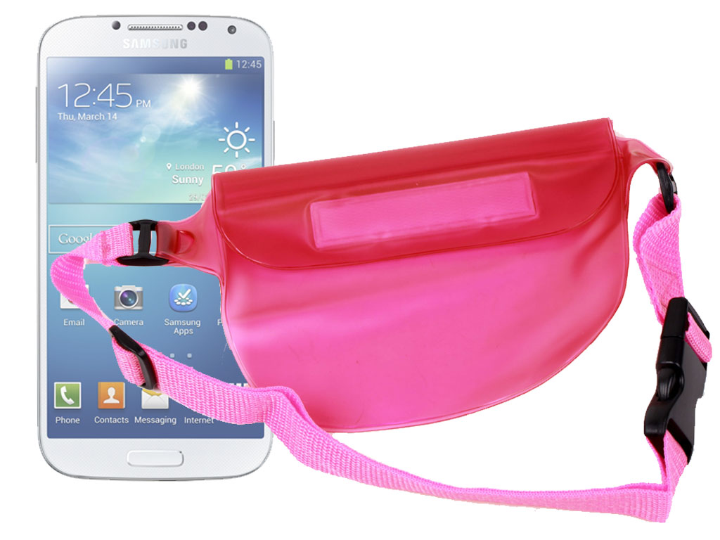 Housse tui tanche banane rose pour smartphone samsung for Housse etanche smartphone