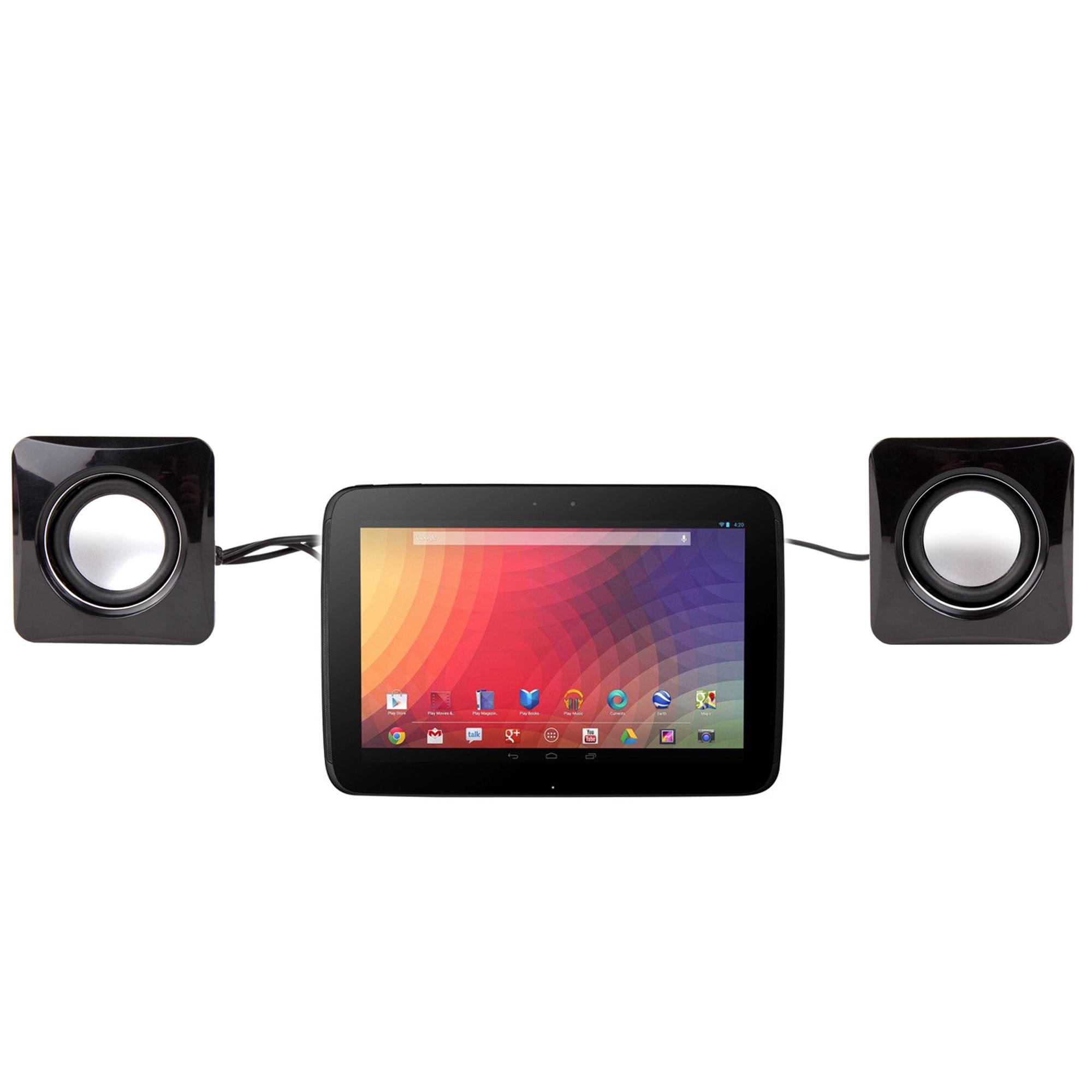 mini haut parleurs enceintes pour google nexus 10 tablette android 4 2 ebay. Black Bedroom Furniture Sets. Home Design Ideas