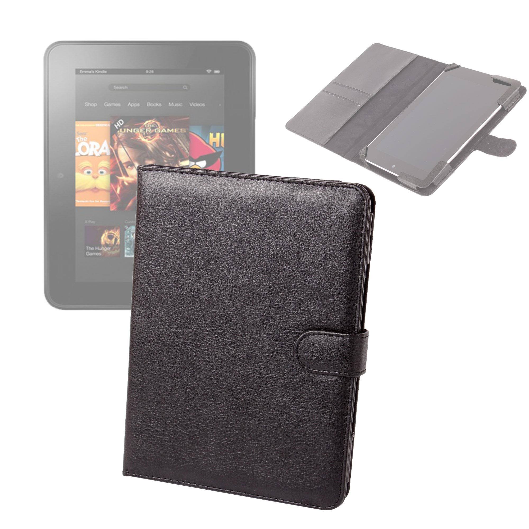 etui style pochette noir pour tablette amazon kindle fire hd 8 9 16 go 32 go ebay. Black Bedroom Furniture Sets. Home Design Ideas