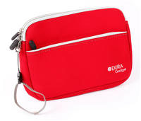 View Item Red Neoprene Carry Case For Oregon Scientific Meep Tablet With Extra Storage