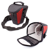 View Item DURAGADGET Medium Size 6 Inch SLR Camera Case With Shoulder Strap In Red & Black