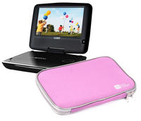 View Item Neoprene Mobile/Portable DVD Player Case/Sleeve/Pouch w/ Zip For Coby TFDVD1029