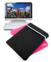 "View Item Reversible 10"" Case For Panasonic DMP-B100 Portable DVD Player In Pink & Black"