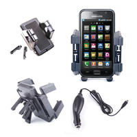 View Item Sturdy Car Phone Mount For Samsung Galaxy S III; Galaxy S II &amp; S5230 Tocco Lite