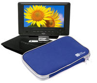 View Item Lightweight Blue Dual Zip Portable DVD Player Carry Case/Bag For Xoro HSD 7790