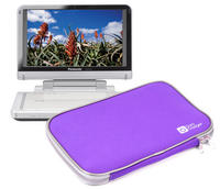 "View Item Purple 10"" Carry Cover/Sleeve/Case For Panasonic DMP-B100 Portable DVD Player"