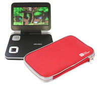 View Item Red Lightweight Neoprene Portable DVD Sleeve For Bush BDVD 7991M & BDVD 8380