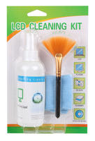 View Item Cleaning Kit Inc. Screen Cleaner, Microfibre Cloth & Brush For LCD Screens