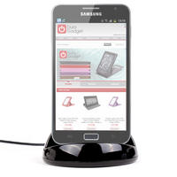 View Item Computer Charge & Data Sync USB Desktop Cradle For Samsung Galaxy Note Tablet