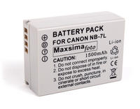 View Item Compatible NB-7L/NB7L 1500mAh Battery For Canon Powershot G10, G11, G12 &amp; SX30