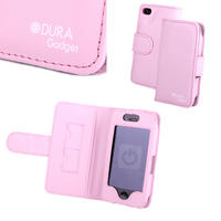 View Item Pink Genuine Leather iPhone 4 &amp; New iPhone 4S Flip Case (8gb, 16gb, 32gb &amp; 64gb)