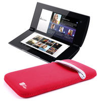 "View Item 5.5"" Black / Red Reversible Water & Impact Resistant Case For Sony S2 Tablet PC"