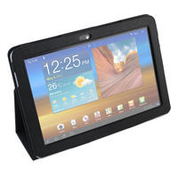 View Item Black Faux Leather Case For Samsung Galaxy Tablet PC Models 10.1, P7500 & 7510