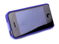 View Item Blue Protective Case With Useful Stand Custom Designed For Apple iPhone 4 &amp; 4S
