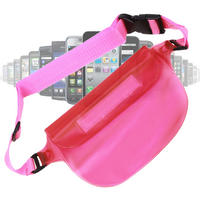 View Item Protective Waterproof Pouch With Handy Waist Strap Protects Motorola RAZR