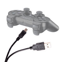 View Item Mini USB Sync Data Transfer Cable For Play Station 3 Controller (PS3)