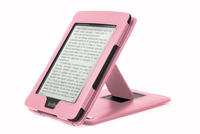 View Item Amazon Kindle Paperwhite Kick Stand Case In Custom Fit Durable Pink Leather
