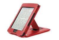 View Item Quality Red Leather Amazon Kindle Paperwhite Cover With Built-In Stand Function